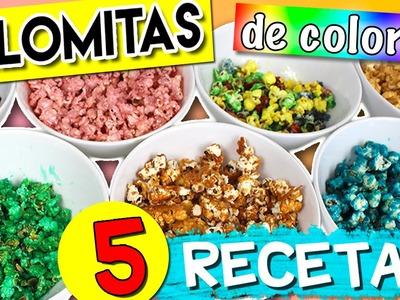 Cómo hacer PALOMITAS DE COLORES * 5 RECETAS de palomitas dulces