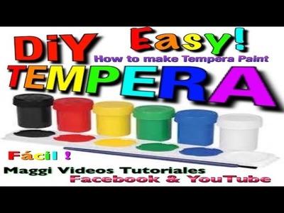 Como hacer Tempera