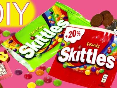 Cómo hacer un monedero de Skittles reciclando bolsas y un sobre sorpresa
