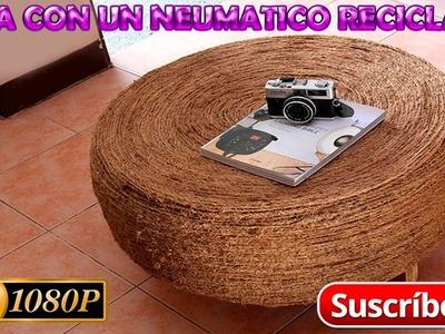 Como Hacer Una Mesa Con Un Neumático Reciclado