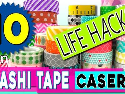 Cómo hacer WASHI TAPE casero * 10 LIFE HACKS con washi tape DIY