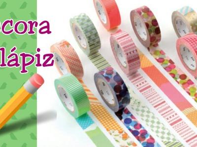 DIY Decora Tus Lápices| Washi tape