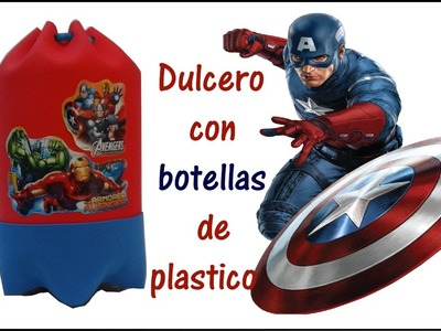 DULCERO DEL CAPITAN AMERICA (AVENGERS) CON  BOTELLAS DE PLASTICO