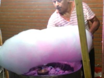 El arte de hacer un algodón de azucar