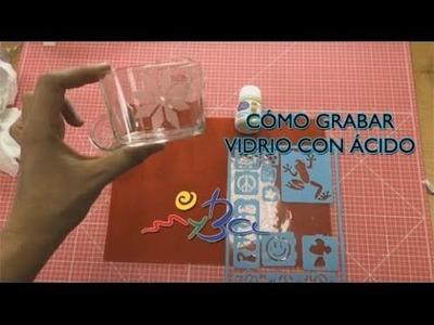 Grabar vidrio con ácido, tutorial en español. Muy fácil de hacer.