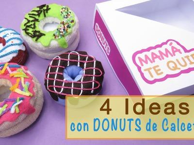 IDEAS CON DONUTS DE CALCETINES - Regalos para el Día de la Madre