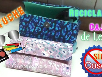 Lapicera o Estuche con caja de leche entrada a clases Cartuchera. PENCIL CASE recycling milk carton