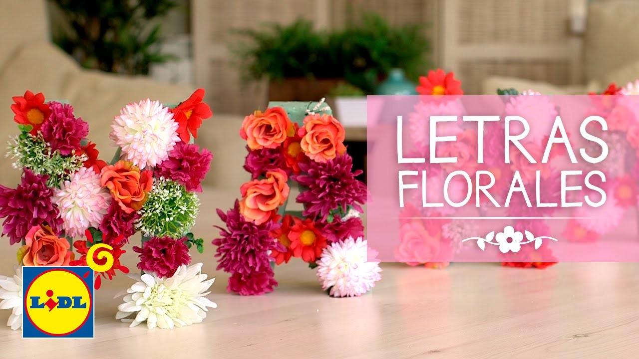 Letras Florales - Handmade Día De La Madre