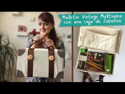 Maletín Multiusos Vintage con Caja de Zapatos :: Chuladas Creativas