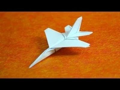 Origami avión f16 pairoflexia paso a paso muy facil