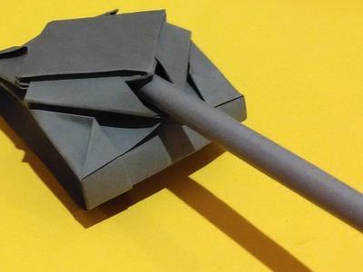 Origami de tanque y la nave espacial pasos
