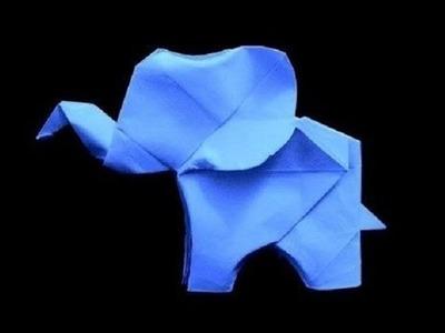 Origami elefante - Cómo hacer elefante de origami lindisimo y facil