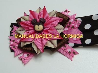 PAP,Flor puntas con cinta, lindo moños ,cabello Niñas, Tutorial, Lazos, balacas