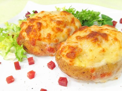 Patatas Rellenas de Jamón y Queso