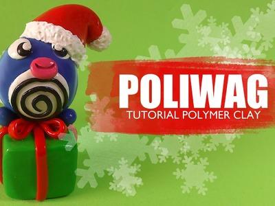 Pokemon Poliwag Navideño Polymer Clay tutorial. Fimo. Porcelana. Plastilina