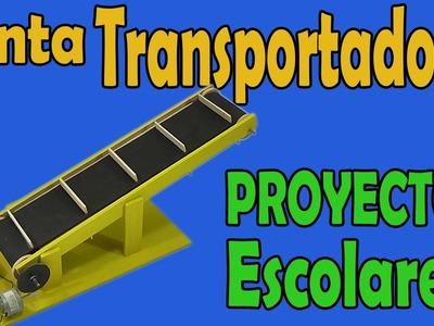 Proyectos | Cinta Transportadora Casera (muy fácil de hacer)
