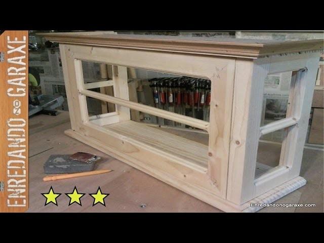 Puerta de la vitrina de coleccionista. How to make the glass cabinet door