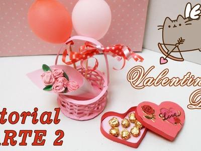 Valentines Day Caja de bombones y Ramo de Flores Para Muñecas