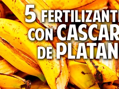 5 fertilizantes con cascara de platano - Potasio - Mas Frutos @cosasdeljardin