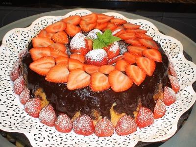 Bizcocho de fresas con chocolate - La Cocina de Loli Domínguez