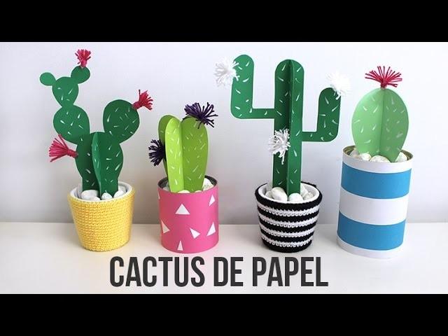 Cactus de papel - Idea de decoración súper fácil