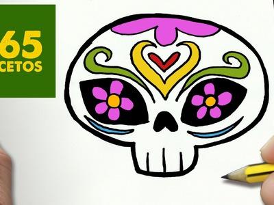 COMO DIBUJAR CATRINA KAWAII PASO A PASO - Dibujos kawaii faciles - How to draw a CATRINA