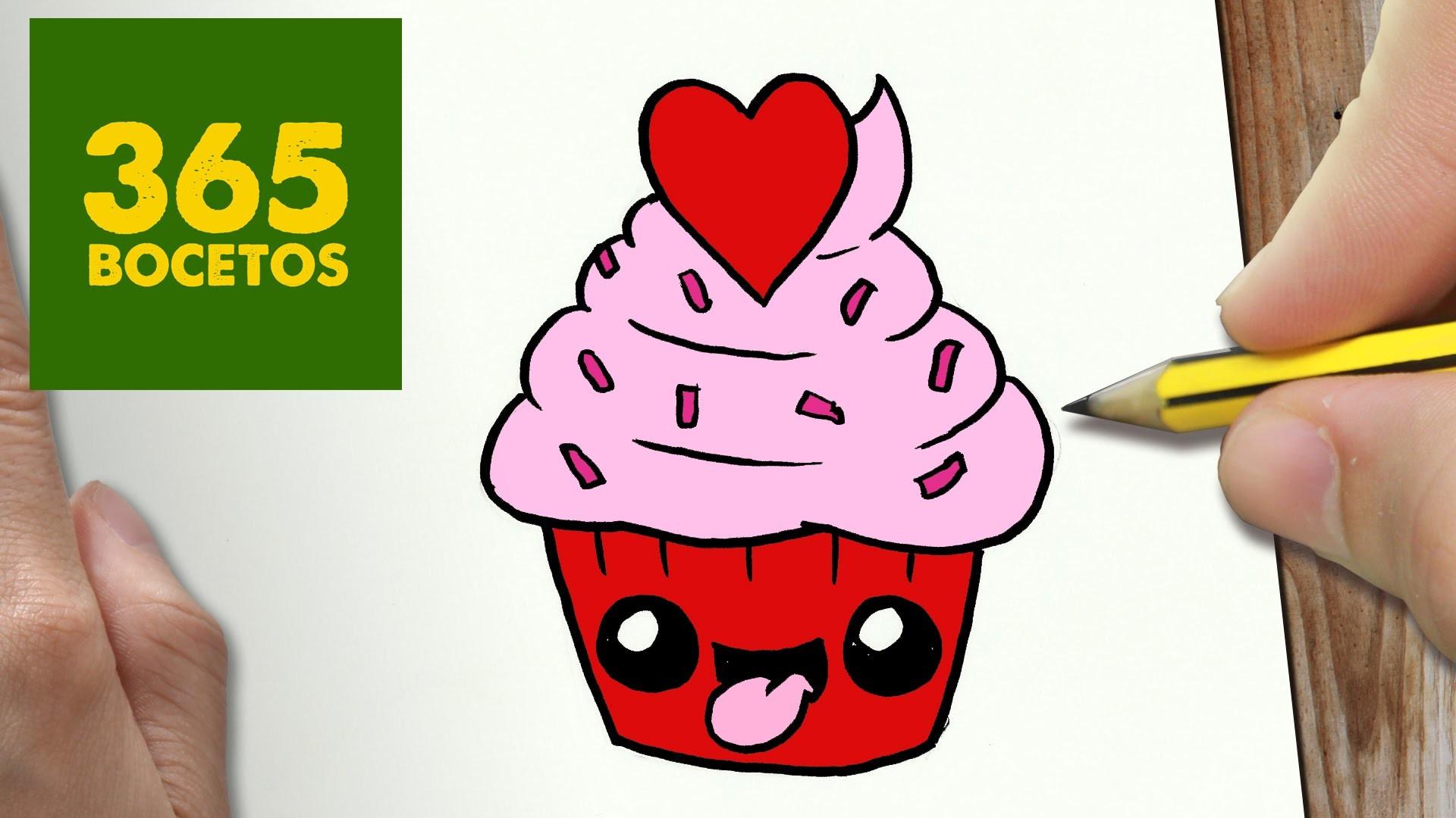 Como Dibujar Cupcake Kawaii Paso A Paso Dibujos Kawaii Faciles How To Draw A Cupcake on Baby Crafts