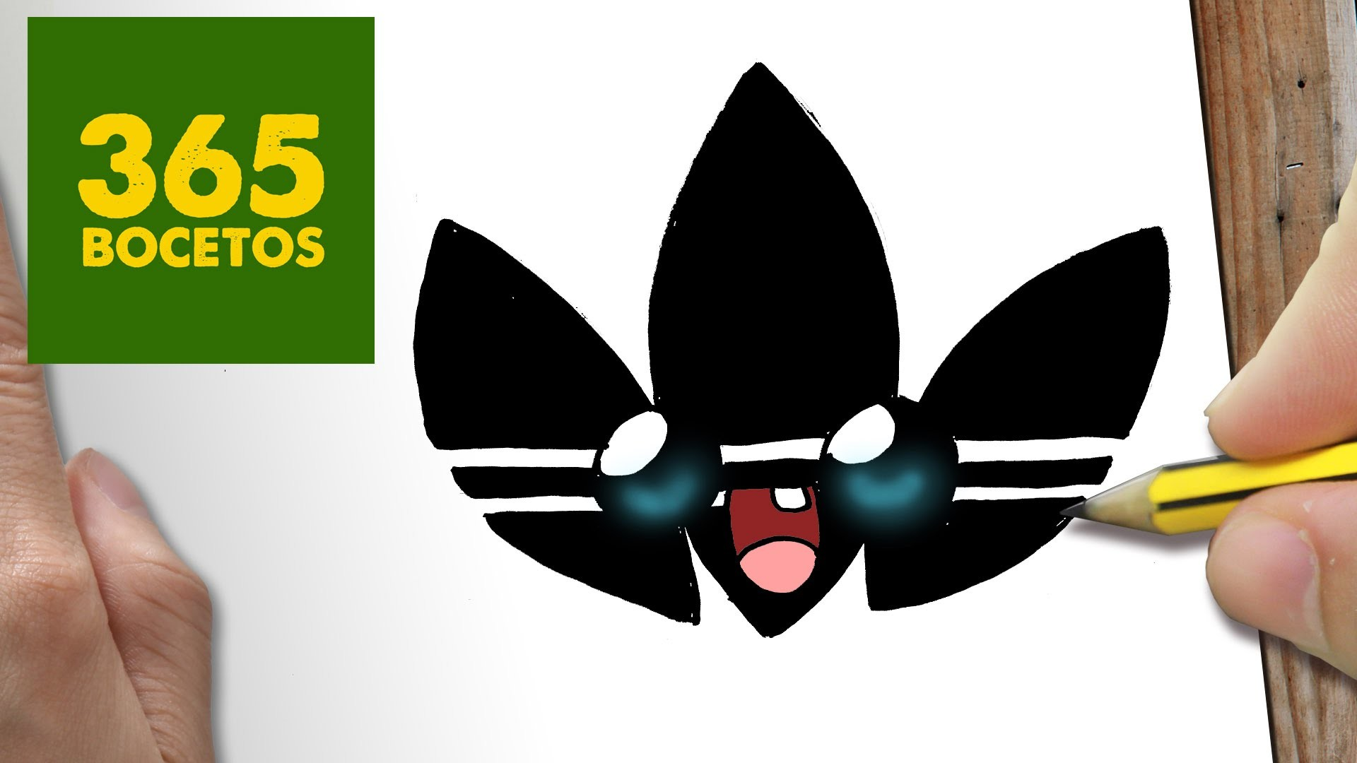 Como Dibujar Logo Adidas Kawaii Paso A Paso Dibujos Kawaii Faciles