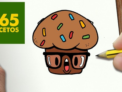 COMO DIBUJAR MUFFIN KAWAII PASO A PASO - Dibujos kawaii faciles - How to draw a MUFFIN