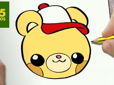 COMO DIBUJAR OSO KAWAII PASO A PASO - Dibujos kawaii faciles - How to draw a BEAR