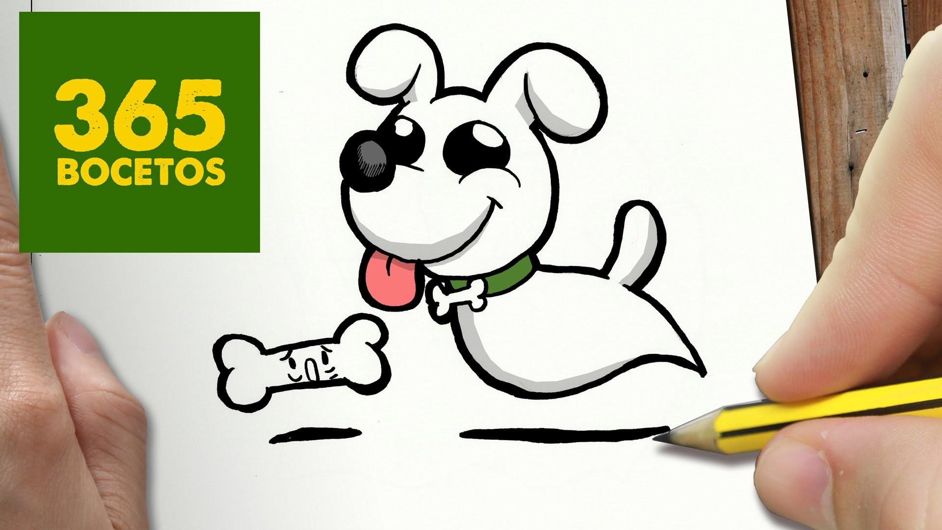 como dibujar perro fantasma kawaii paso a paso   dibujos