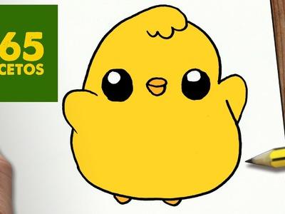 COMO DIBUJAR POLLITO KAWAII PASO A PASO - Dibujos kawaii faciles - How to draw a chicken