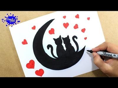 Como dibujar tarjeta amor san valentin. How to draw a love card.Como hacer una tarjeta de amor