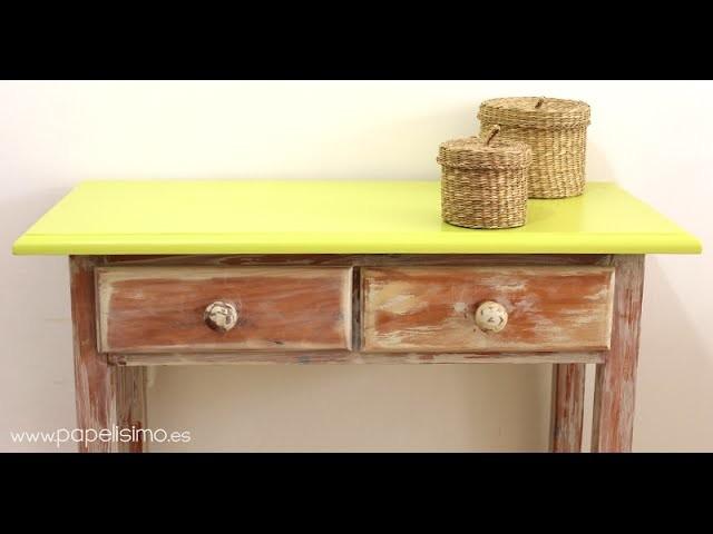 Cómo envejecer un mueble de madera (chalk y pátina)