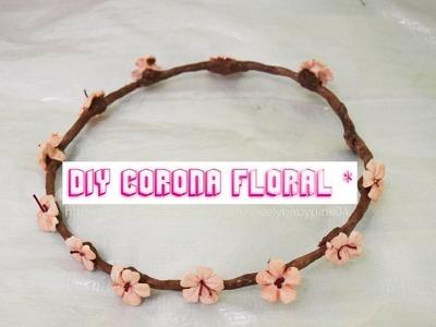 Como hacer flores de porcelana fria - Corona de flores - Crown of flowers