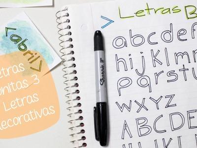 Como hacer LETRAS DECORATIVAS: Letras BONITAS 03. BigCrafts