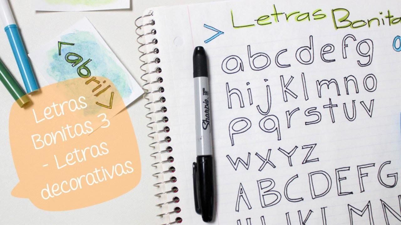 Como hacer letras decorativas letras bonitas 03 bigcrafts - Como hacer letras decorativas ...