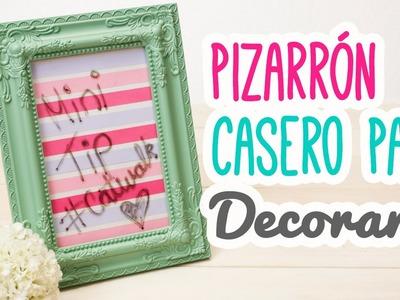 ¿Cómo hacer un Pizarron Casero?| Decora y Organiza tu Escritorio| Mini Tip#81| Catwalk
