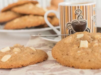 Cookies de chocolate blanco y nueces | Quiero Cupcakes!