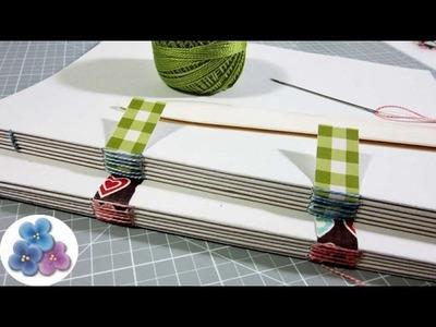 Encuadernación Casera Plastificar Cuadernos Hechos a Mano Tapa Dura Pintura Facil
