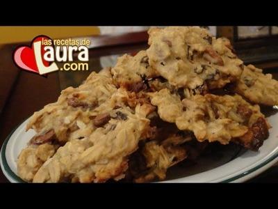 Galletas de Avena con Nuez y Dátiles - Oatmeal Pecan Cookies - Recetas de Navidad