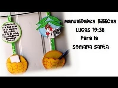 Manualidades Bíblicas. reciclado de CD.Lucas 19:38