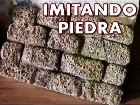 Pared de piedra en porexpan anime icopor - Imitacion piedra pared ...