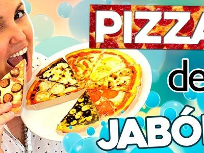 PIZZA de JABÓN gigante * JABONES caseros en forma de PIZZA