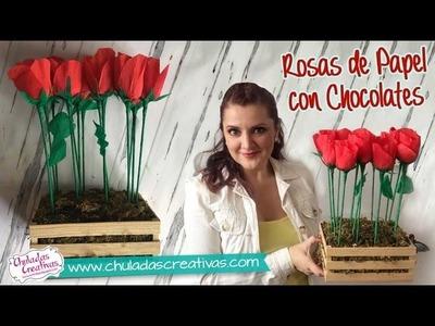 Rosas de Papel con Chocolates ideal para Mamá :: Chuladas Creativas