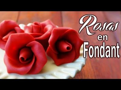 Rosas en fondant para decorar tus tartas o cupcakes