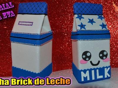 ♥ Tutorial: Brick de Leche Kawaii [ HUCHA SECRETA ] de Goma Eva (Foamy) ♥
