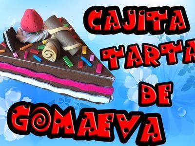 Tutorial ''Cajita con forma de TARTA de GOMAEVA''