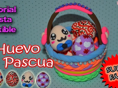 ♥ Tutorial: Huevitos de Pascua de Pasta Flexible o Porcelana Fría | Easter Eggs ♥