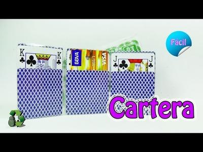 191. Manualidades: Cartera con cartas-barajas [Fácil] (Reciclaje) Ecobrisa